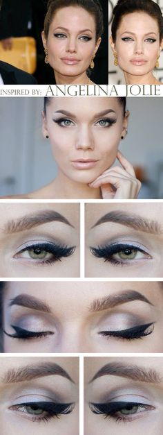 """Today's Look : """"Angelina Jolie Cat eyes"""" -Linda Hallberg (Linda did an amazing job recreating this iconic look. this is simply stunning. no one does a cat eye like Linda Hallberg) . Love Makeup, Makeup Inspo, Makeup Tips, Makeup Looks, Lila Palette, Smoky Eyes, Make Up Inspiration, Linda Hallberg, Braut Make-up"""