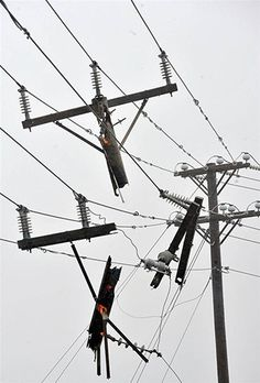 Damaged power lines are evident as Hurricane Irene hits the northern Outer Banks of North Carolina. Description from framework.latimes.com. I searched for this on bing.com/images