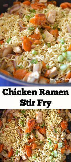 Easy way to transform Ramen Noodles into a delicious and quick dinner - Chicken Ramen Stir Fry