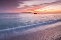 Stock Photo : A colourful sunset near to Durdle Door