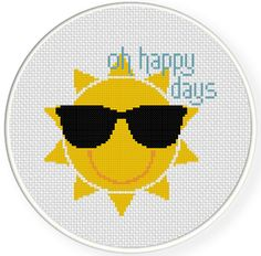 FREE for March 4th 2014 Only - Oh Happy Days Cross Stitch Pattern