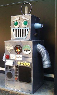 Image result for cardboard robot with lights