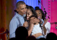 Barack Obama serenades daughter Malia on her 18th birthday | Daily Mail Online