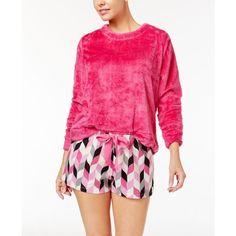747bee3e00f Hue Fleece Top and Printed Boxer Pajama Shorts Set Women - Bras