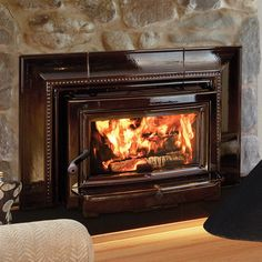Fireplace Inserts: gas fireplace insert, electric fireplace insert and wood burning fireplace Insert Pellet Fireplace Insert, Fireplace Blower, Wood Burning Fireplace Inserts, Stove Fireplace, Fireplace Ideas, Fireplace Design, Farmhouse Fireplace, Cabin Fireplace, Pellet Stove