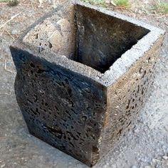 faux concrete ultra-lightweight pot made from spray foam!!!!