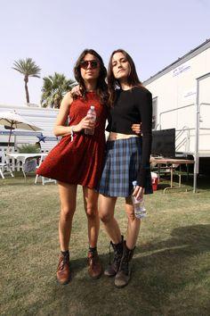 Stella Mozgawa and Theresa Wayman of Warpaint at Coachella 2014