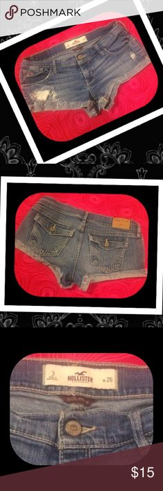 Hollister Jean Shorts 🌹Size 3 (26) Hollister Jeans