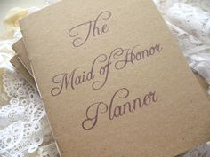MADE TO ORDER maid of honor planner/organizer. $20.00, via Etsy.