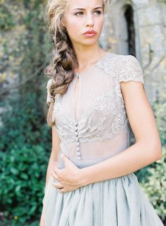 View entire slideshow: Inspiring Dove Gray Wedding Dresses on http://www.stylemepretty.com/collection/2898/