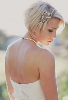 Very short bridal hairstyles