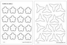 Small flower templates...