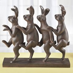 Conga Line Bunnies Sculpture - Furniture, Home Decor and Home Furnishings, Home Accessories and Gifts | Expressions  I am laughing so hard, these guys are great!
