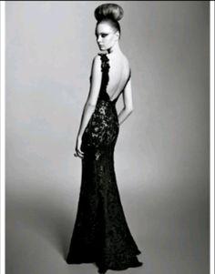Google yestofashion.blogspot.com or blackless lace full length dress. Definite yes for prom