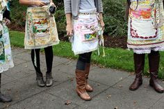 Why can't aprons be part of your outfit?  Seriously, if it were socially acceptable I would wear them out on the town!