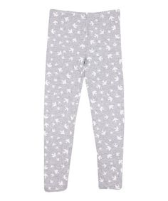 This Light Gray Marl Birdies Leggings - Infant, Toddler & Girls by Cotton On Kids is perfect! #zulilyfinds