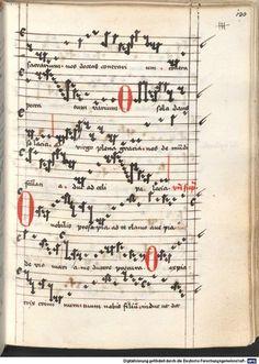 Cantionale, Geistliche Lieder mit Melodien. Münchner Marienklage Tegernsee, 3. Drittel 15. Jh. Cgm 716  Folio 130