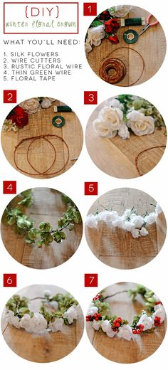 DIY Flower Crown Tutorial! Definitely need to try this.