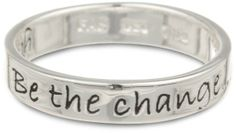"Sterling #Silver #ring  ""Be The Change You Wish To See in the World"" Ring #jewelry"