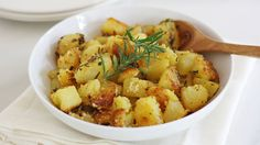 Toss Yukon gold potatoes with pre-made polenta for a trend-worthy new side dish. Add just a bit of garlic, sea salt and fresh herbs to finish off the dish.