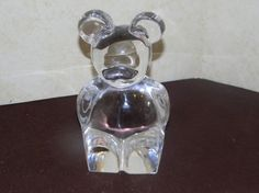 Orrefors Sweden Crystal Glass Teddy Bear by 3FunkyMonkeys on Etsy #doubleteampromotionsocialmedia #ThreeFunkyMonkeys