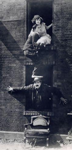 Virginia, Buster and Big Joe - Neighbors 1920