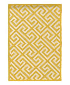 Take a look at this Yellow Silhouette Key by Linon Home on #zulily today! $379.99