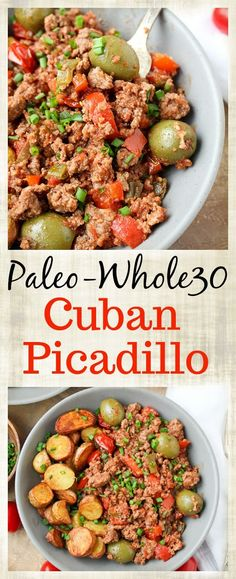This Paleo Whole30 Cuban Picadillo is a quick meal that is full of flavor! Ready in under 30 minutes and so filling. Made gluten free, dairy free, and low fodmap. Quick disclaimer: I am not claiming this to be authentic, especially with my substitutions to make it low fodmap. It is based of S