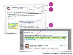 Facebook Embedded Posts im Blog - HowTo  -> www.doschu.com