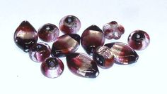 Set of Dichroic Glass Beads in Black Silver and by BeadsFromHaven, $3.50