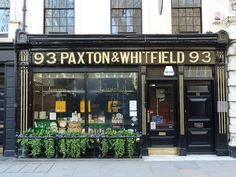 Paxton & Whitefield, Jermyn Street, SW1    Lovely shop front