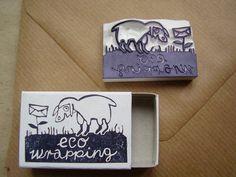 Eco embalaje sello por alinear en Etsy