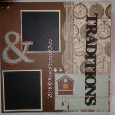 Family and traditions 2page layout kit