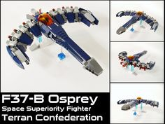 https://flic.kr/p/8SszRr | F37-B Osprey | Another build from my 20th century comic; the Confederation's most advanced fighter.  I got some of it right and some of it very, very wrong.  While I think this build hits most of the high points, I'll probably revisit it in the future.