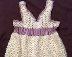 Vestido de ganchillo por Kraftybea en Etsy