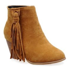 Tassel Suede ankle Boots