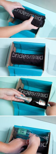 This would be fun to do for all of your bridesmaids. Have them open them up at the same time and then celebrate!