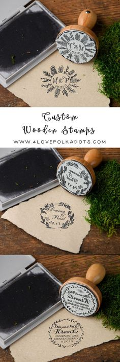 Rustic country wood wedding stamps #rusticwedding #countrywedding #rustic #wooden #DIY #weddingideas
