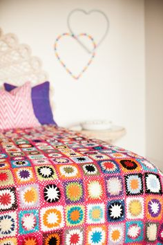 Unique and desirable pieces, that have been hand selected from around the world, into your home. Crochet Square Blanket, Crochet Quilt, Crochet Throws, Open Weave, Color Splash, Pretty In Pink, Projects To Try, Crafty, Quilts