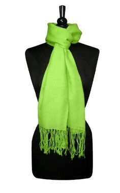 Biagio 100% Wool Pashmina Scarf LIME GREEN Color Women's Shawl Wrap Biagio. $19.95. Great Quality. 100% Wool Pashmina Shawl. 100% Wool. Save 26%!