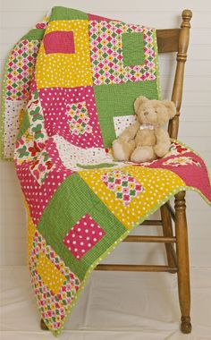 Beautiful baby girl quilt