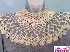 How to openwork crochet collar - http://www.knittingstory.eu/how-to-openwork-crochet-collar/