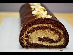 Шоколадный рулет с шоколадным заварным кремом YouTube