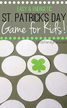 FUN St. Patricks Day game for kids! Get out some wiggles!! http://kidsparties.about.com/od/stpatricksday/tp/St-Patricks-Day-Party-Games.01.htm