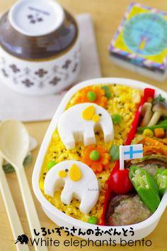 Japanese Food / 白いぞうさんのキャラ弁
