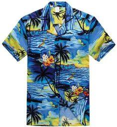 151075bb Hawaii Hangover Hawaiian Shirt Aloha Shirt in Sunset Blue