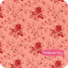True+Vintage+Pink+Tonal+Roses+Yardage+SKU#+0010-01