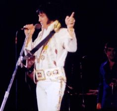 Elvis on stage in Colombia in february 18 1977.