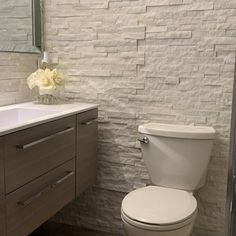 Earthy Bathroom, Taupe Bathroom, Rustic Master Bathroom, Wood Bathroom, Single Bathroom Vanity, Bathroom Interior, Small Bathroom, Tile Accent Wall, Stone Accent Walls