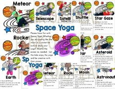 Space KIDS Yoga Cards and Printables Yoga can be calming, provide opportunities for strengthening and range of motion. Best of all, yoga provides opportunities for learning. Space themed yoga is great to incorporate into the classroom everyday! These yoga cards consist of REAL kids in the poses – SEE PREVIEW If you are looking for … #yogaforkids